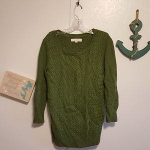 Ann Taylor Loft chunky knit pullover sweater